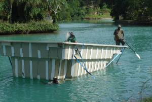 A Symposium at the 2013 UKFIET International Conference on Education and Development Photo: Men rowing a swimming pool in Vanuatu