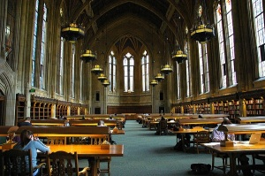 The Suzzallo Library, Seattle, Washington. Photo by Wonderlane.