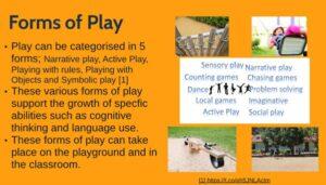 Slide describing 5 forms of play