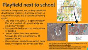 Slide describing location and facilities of playfield
