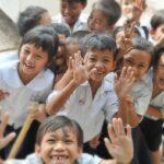 Asian school children