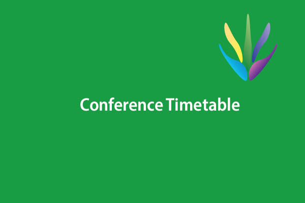 Conference Timetable Published