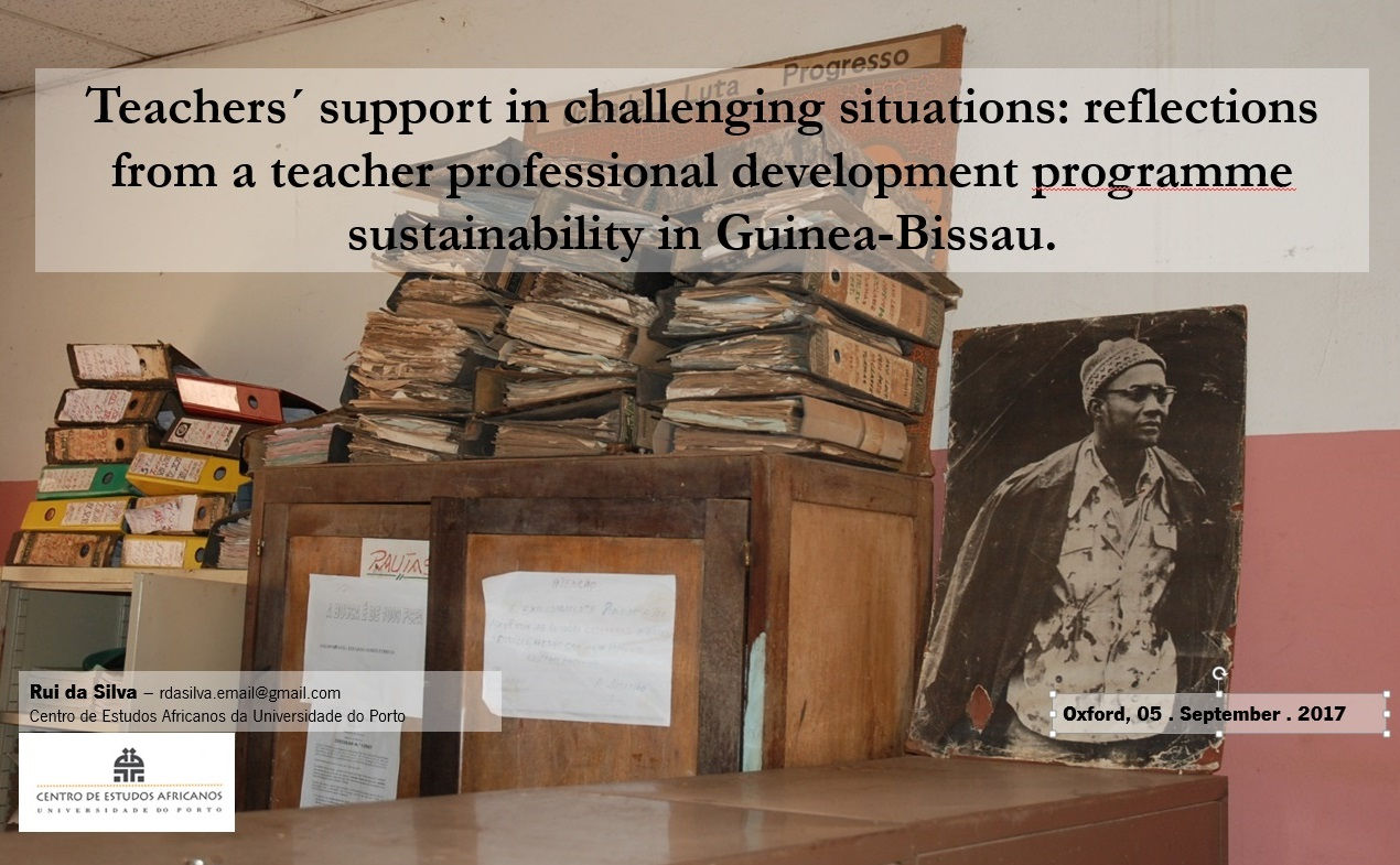 Teachers´ support in challenging situations: reflections from a teacher professional development programme in Guinea-Bissau
