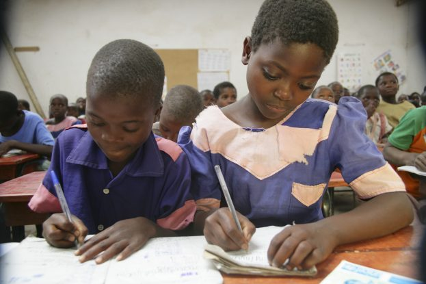 ©-Giacomo-Pirozzi-Panos-Pictures. Children studying in class. Primary education is free of charge in Malawi. However, although many children start school, around 60% drop out before completing their primary schooling.