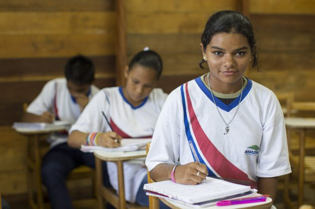 Pupils study at a school near Manaus, Amazonas Brazil  Credit: GEM Report / Andres Pascoe