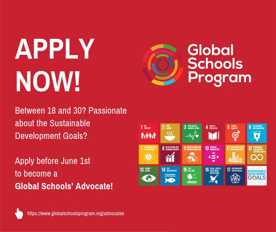 Global Schools' Advocate Program – Apply Now
