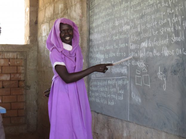 """This is my happiest time of the day."" Alafa following a class in Yusuf Batil camp.   ""Education is everything to me, it keeps me dreaming."" ; 13 years old, Alafa, is a Sudanese refugee living in Yusuf Batil camp in South Sudan. ""I thought I would never have a chance to learn when we left Blue Nile."" She and her family had to leave their home because of the conflict in Blue Nile. ""We had to flee with nothing; I left all my book and clothes. In the camp, I got uniform and books. I can now speak English, isn't it amazing?""   UNHCR is supporting 23 primary schools in Maban County (border with Sudan's Blue Nile) where over 27,000 refugee children continuing their education."