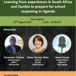 Learning from experiences in South Africa and Zambia to prepare for school reopening in Uganda