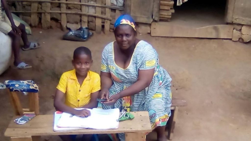 Zambo, who has spina bifida is learning at home in Cameroon