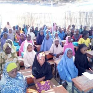Classroom scene in Nigeria
