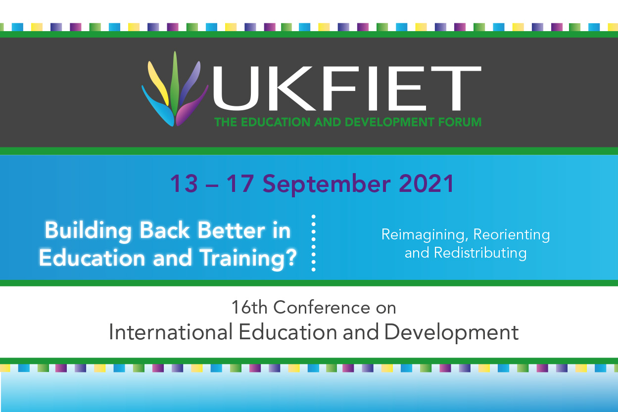 Building Back Better in Education and Training? Reimagining, reorienting and redistributing