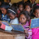 A classroom in the public primary school of Ianjanina in rural Madagascar
