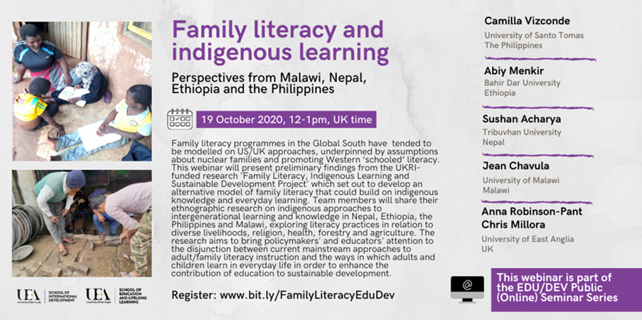 Family literacy and indigenous learning: perspectives from Malawi, Nepal, Ethiopia and the Philippines
