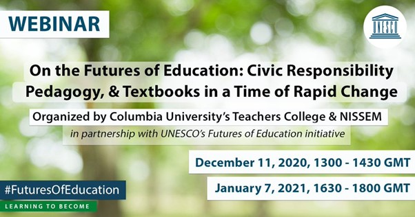 On the Futures of Education: Civic Responsibility, Pedagogy, & Textbooks in a Time of Rapid Change