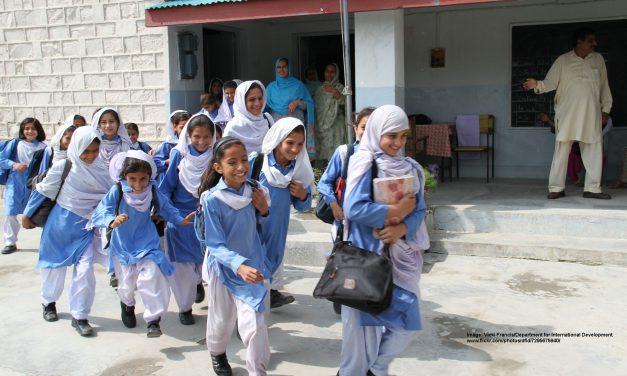 Girls in playground, Pakistan