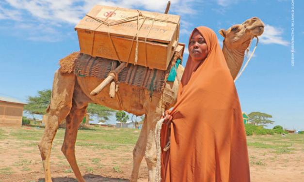 Ethiopian girl with camel