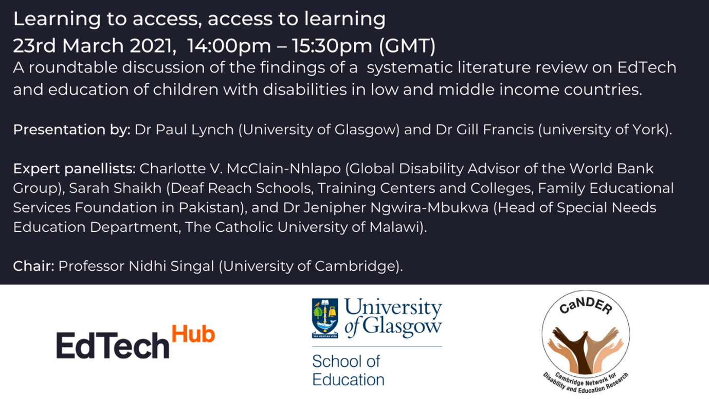 Learning to access, access to learning