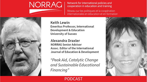 """NORRAG Podcast Episode 08: """"Peak Aid, Catalytic Change and Sustainable Educational Financing"""""""