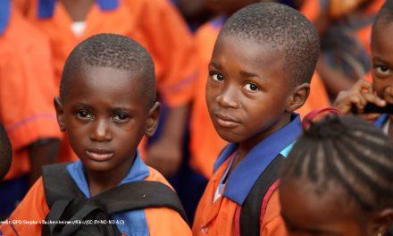 African boys in school uniform