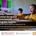 Twelve years' education for every Commonwealth child. Finding the money