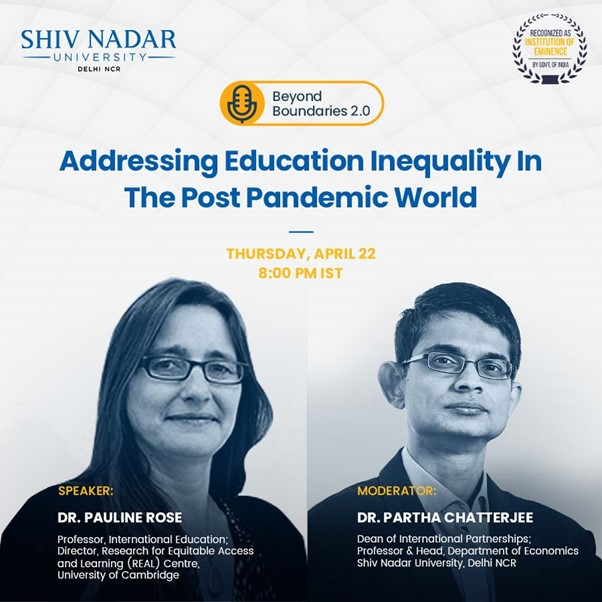 Beyond Boundaries 2.0: Seminar 3 | Addressing Education Inequality In The Post Pandemic World