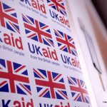 Union Flag and UKAid poster