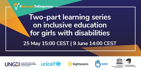 Two-part learning series on inclusive education for girls with disabilities