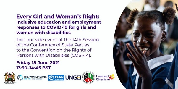 Every Girl and Woman's Right – inclusive education and employment responses to COVID-19 for girls and women with disabilities