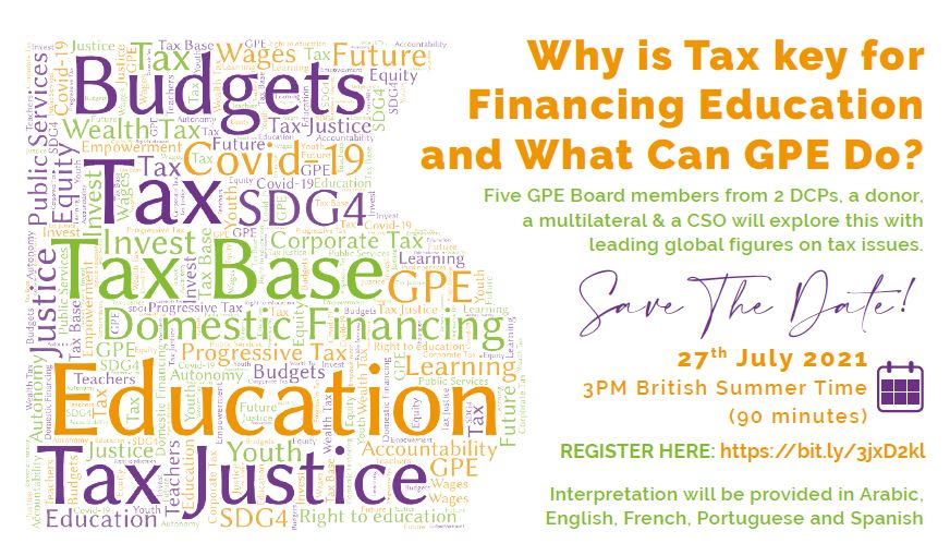 Why is Tax key for Financing Education and What can GPE do?