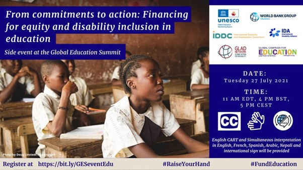 From commitments to action: Financing for equity and disability inclusion in education