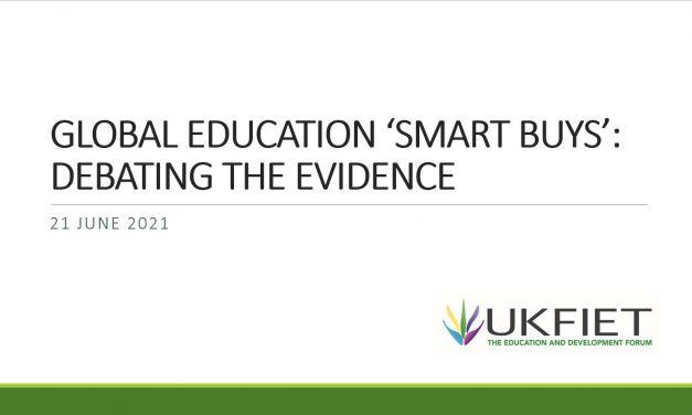 UKFIET event – Global Education 'Smart Buys': Debating the Evidence