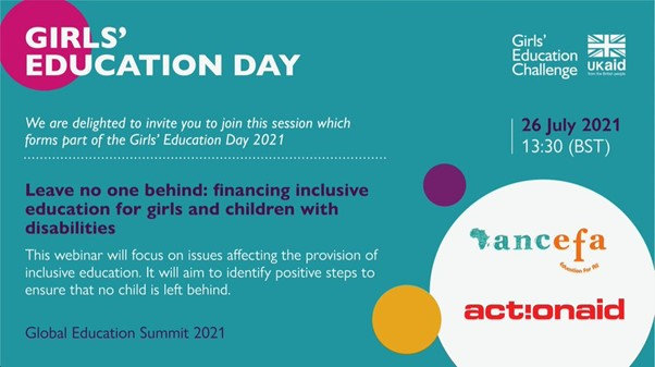 Leave no one behind: financing inclusive education for girls and children with disabilities