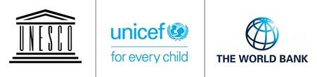 UNICEF, World Bank and IIEP logos