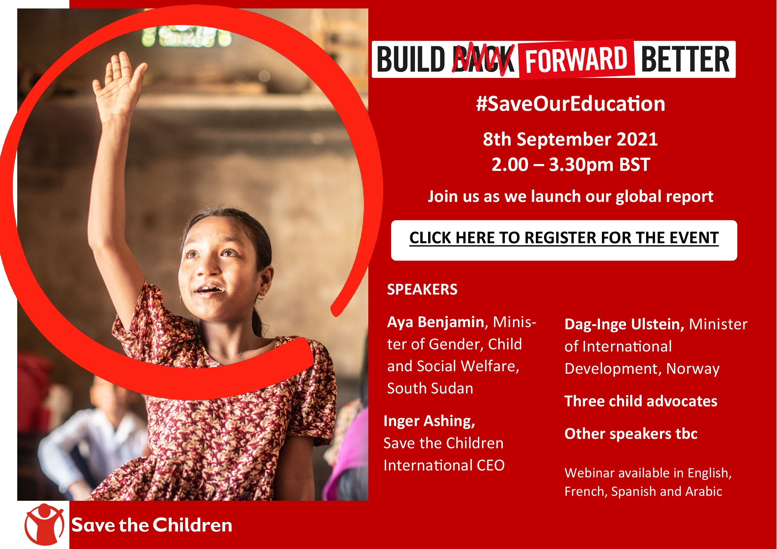 Build Forward Better to Save our Education