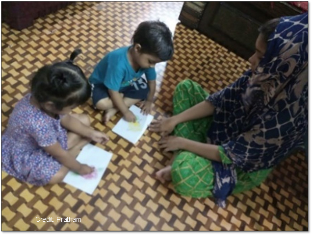Learning with Mothers: Mobiles, Motivation, and Measurement. Early Childhood Education Interventions in Pratham
