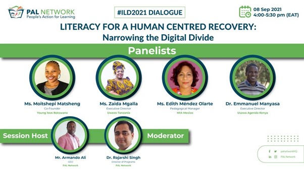 Literacy for a Human Centred Recovery: Narrowing the Digital Divide. #IDL2021 Dialogue: Experiences from the PAL Network