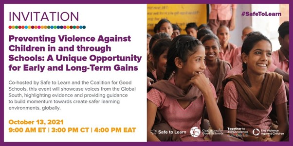Preventing Violence against Children at Schools: Unique Opportunity for Early Gains