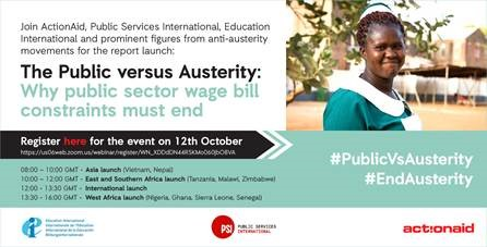 The Public Versus Austerity: Why Public Sector Wage Bill Constraints Must End
