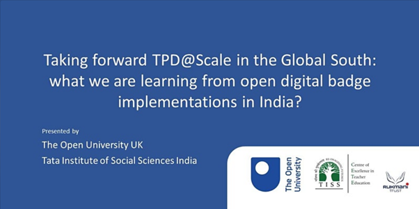 Taking forward TPD@Scale in the Global South: what we are learning from open digital badge implementations in India?