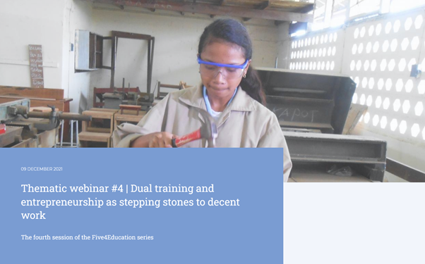 Five4Education - Dual training and entrepreneurship as stepping stones to decent work
