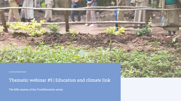 Five4Education - Education and climate link